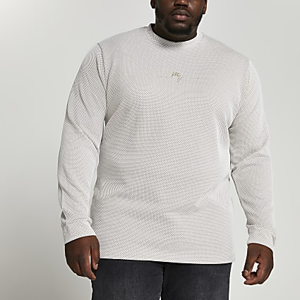 Big & Tall ecru Maison Riviera sweatshirt