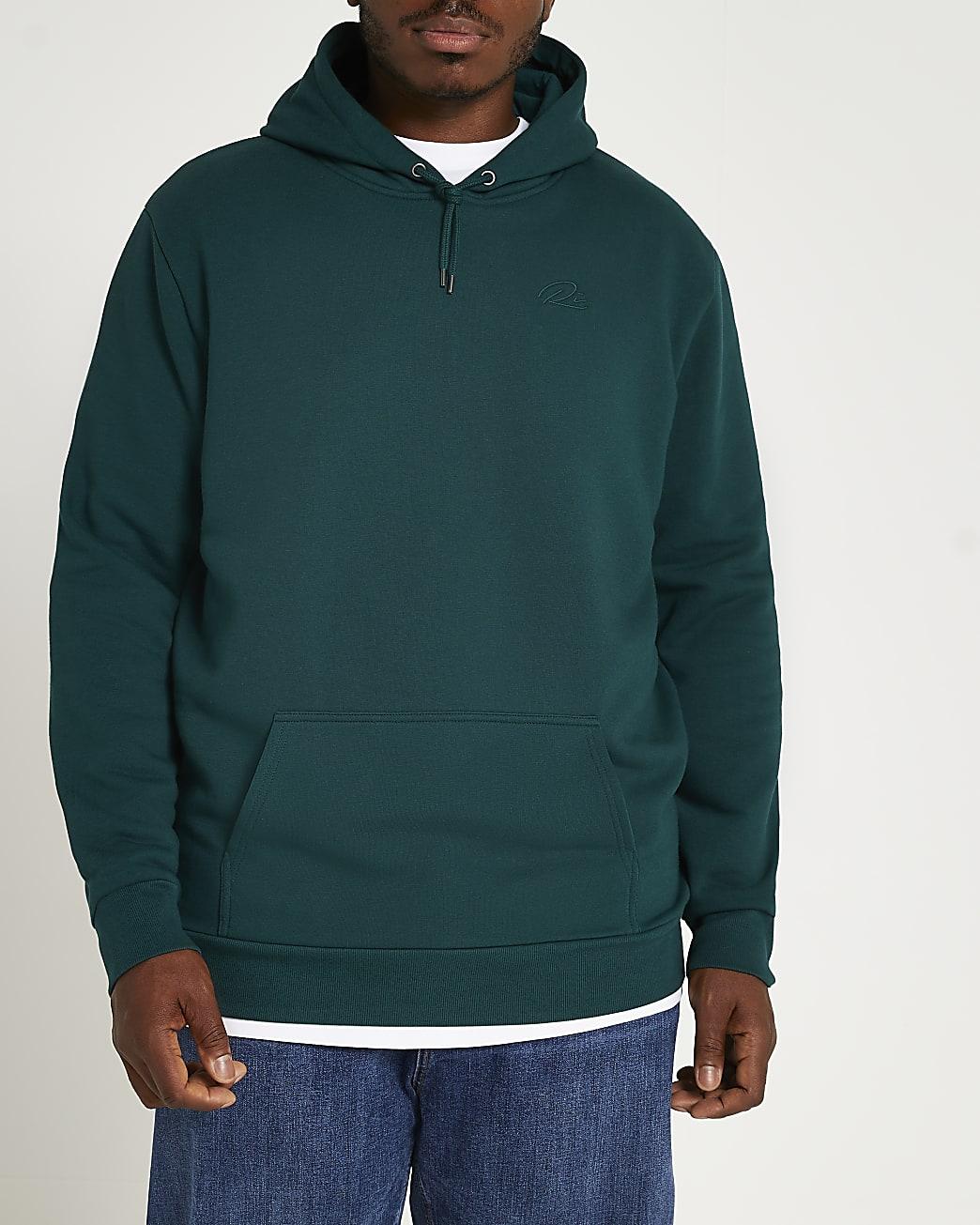 Big & tall green RI hoodie