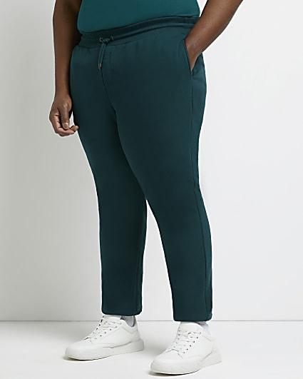Big & tall green slim fit RI branded joggers