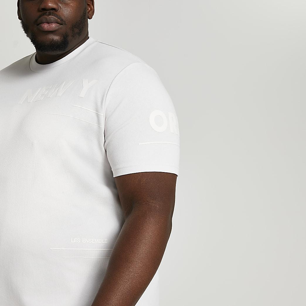Big & Tall grey graphic t-shirt