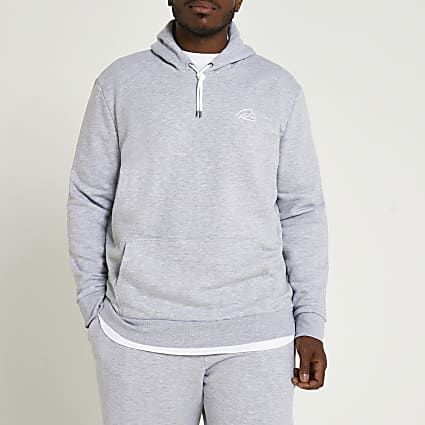 Big & Tall grey RI slim fit hoodie