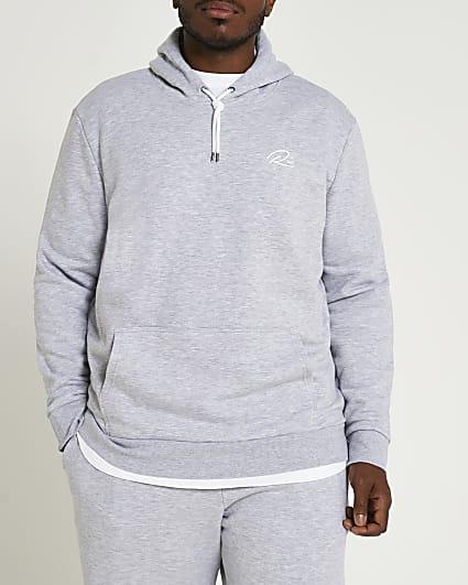 Big & Tall grey RI slim fit hoodie