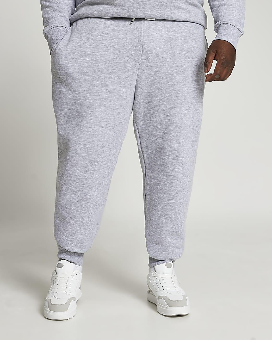 Big & Tall grey RI slim fit joggers