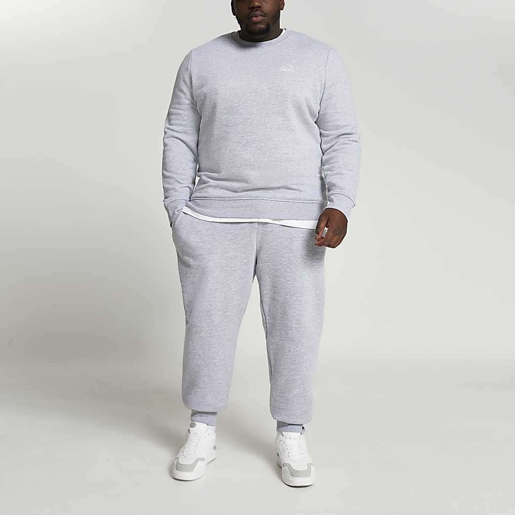 Big & Tall grey RI slim fit joggers