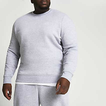 Big & Tall grey slim fit sweatshirt