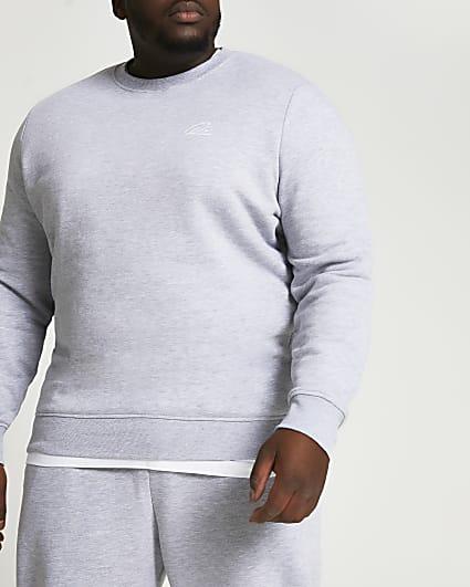 Big & Tall grey slim fit sweatshirt