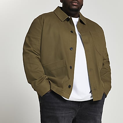 Big & Tall khaki long sleeve jacket