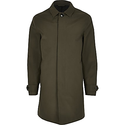 Big & tall khaki water resistant mac