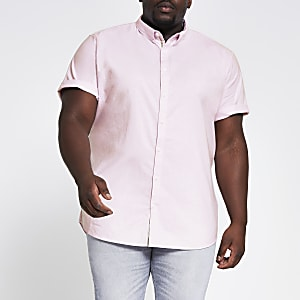 Big & Tall light pink slim fit Oxford shirt