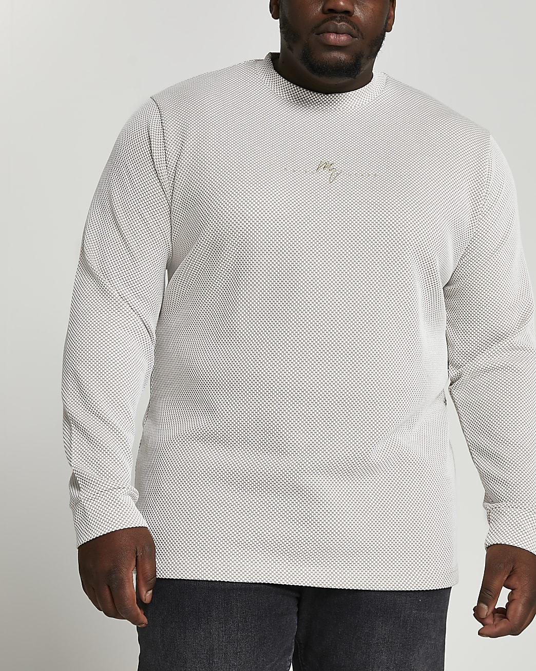 Big & Tall Maison Riviera ecru sweatshirt