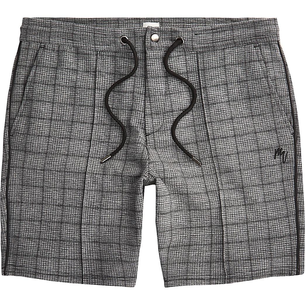Maison Riviera - Big and Tall- Grijze geruite shorts