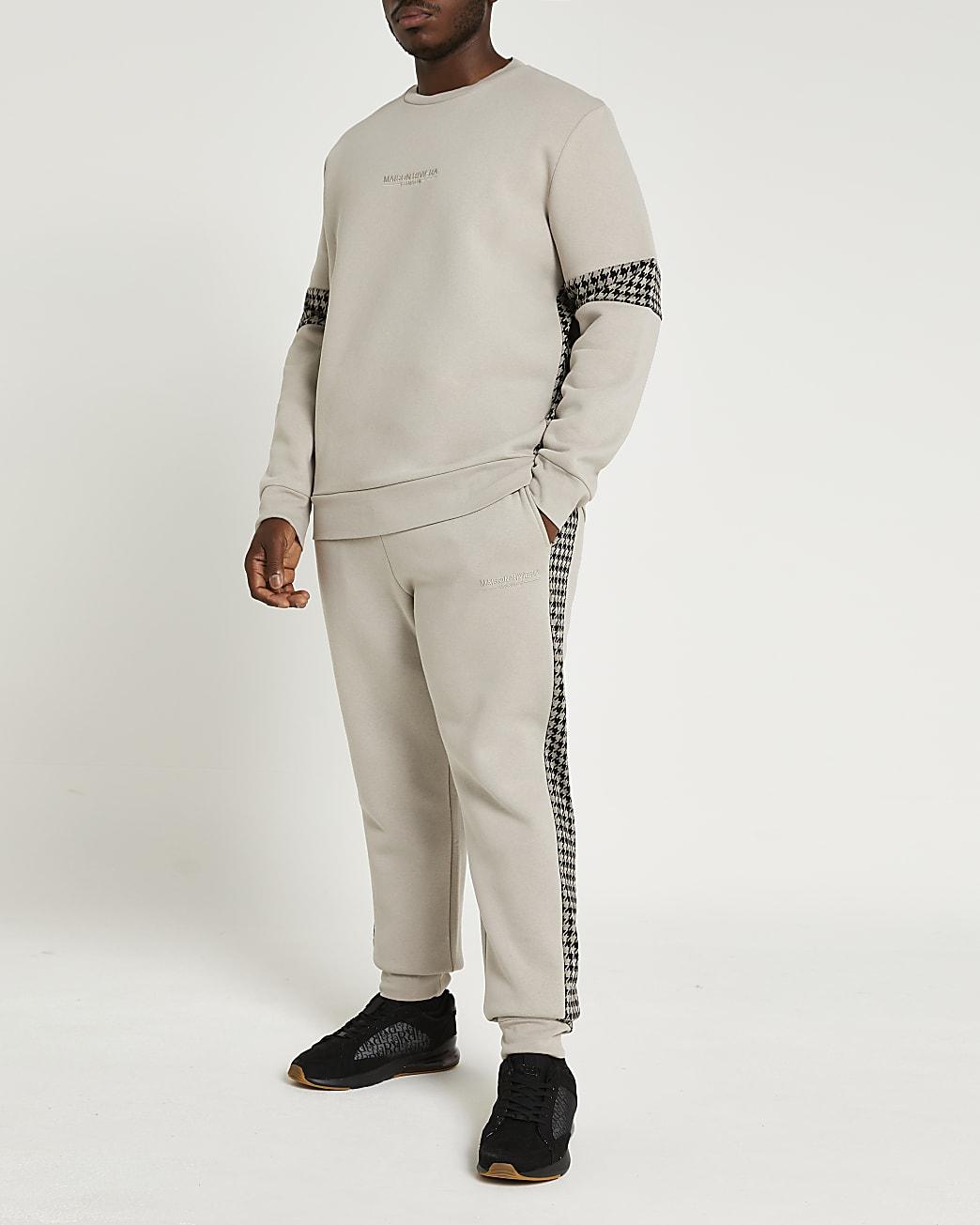 Big & tall Maison Riviera grey sweatshirt
