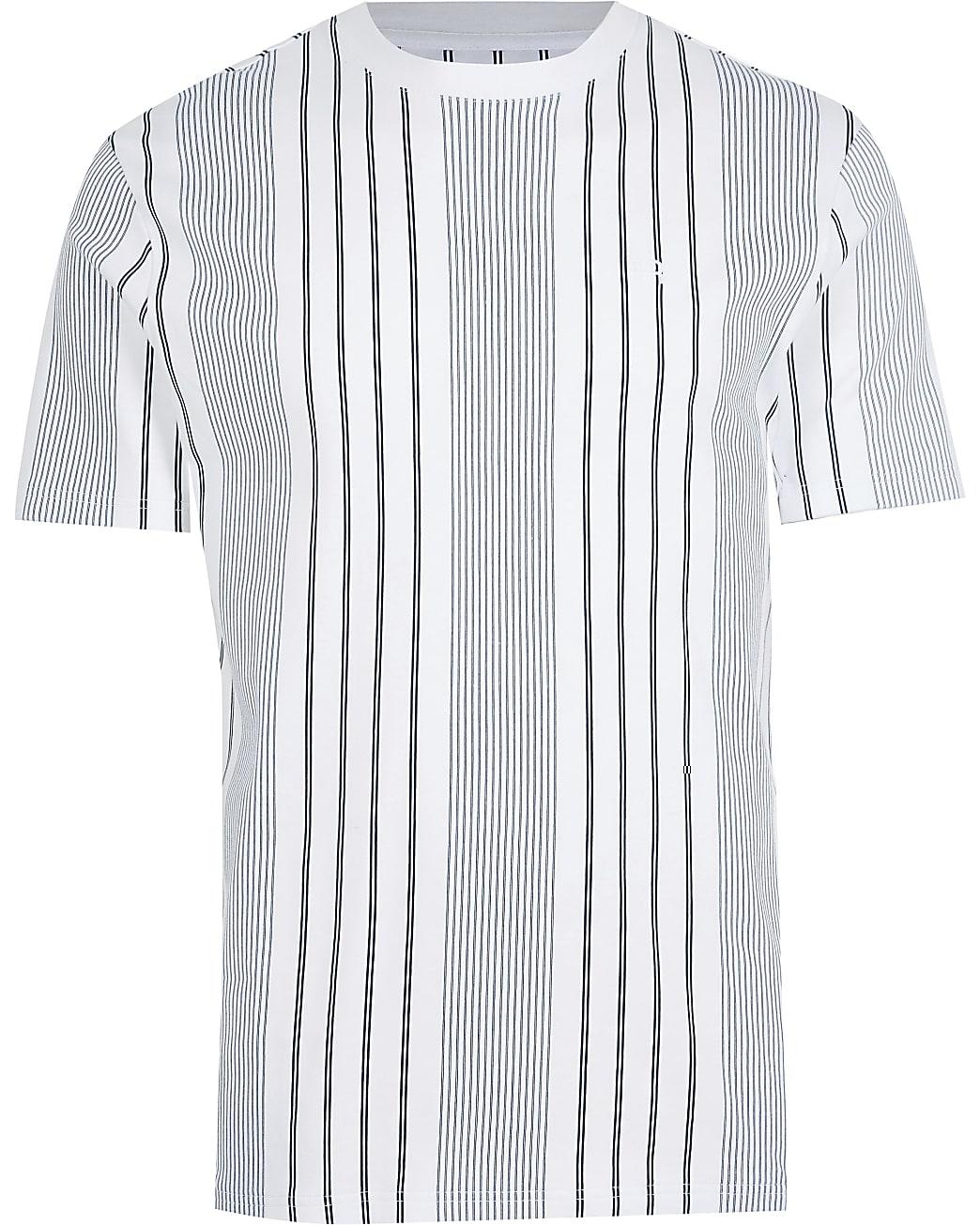 Big & Tall navy RR stripe slim fit t-shirt