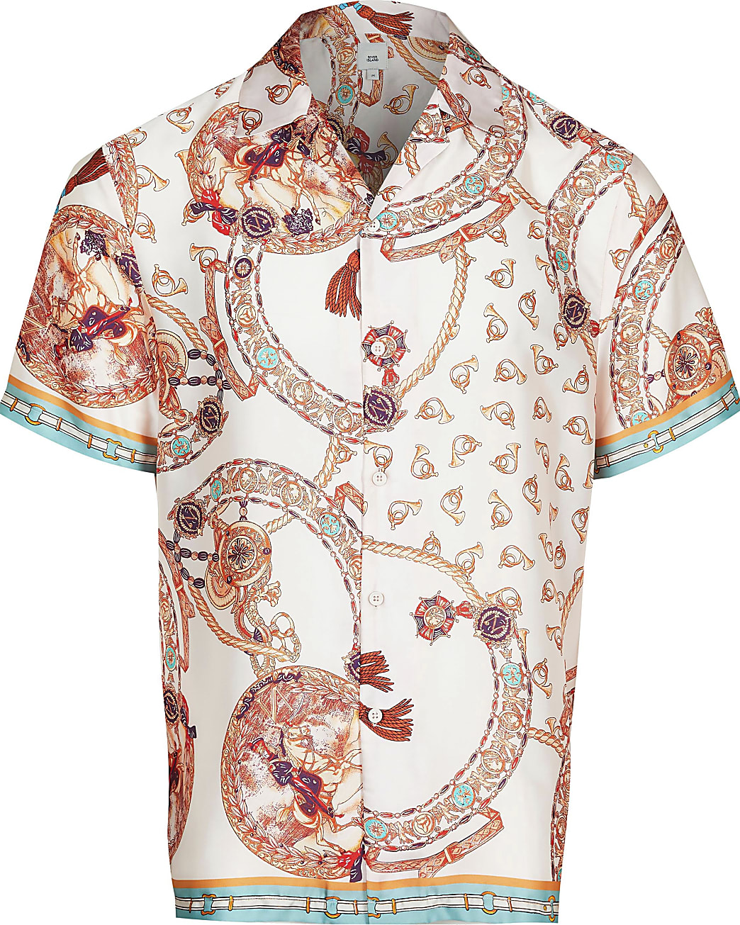Big & Tall pink print short sleeve shirt