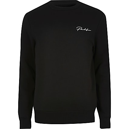 Big & Tall Prolific black slim fit sweatshirt