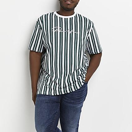 Big & tall Prolific green stripe t-shirt