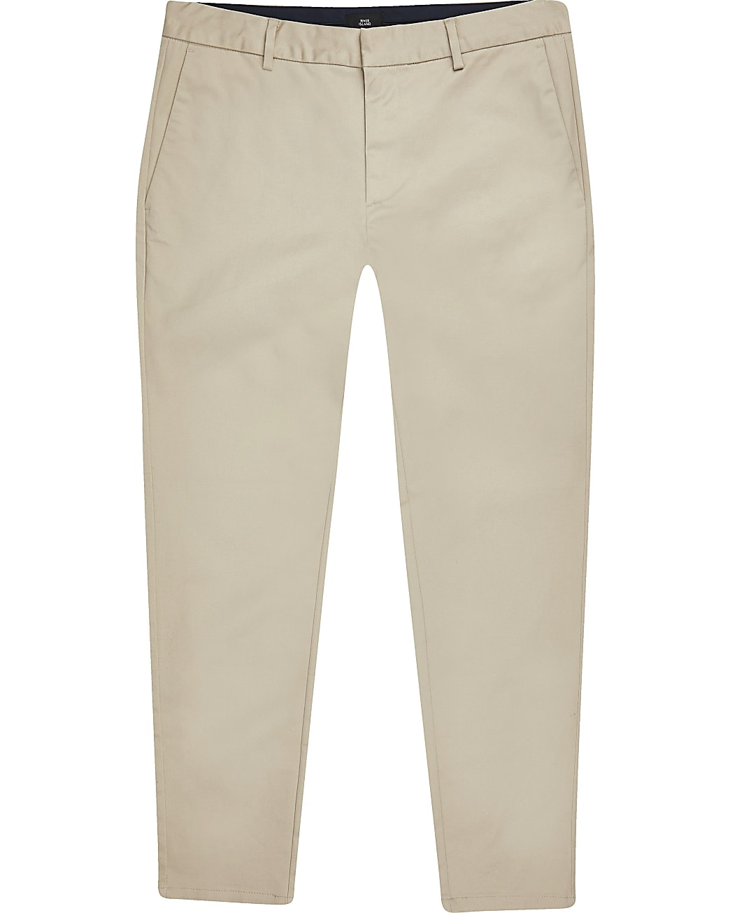 Big & tall stone skinny fit chino trousers