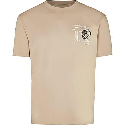 Big & Tall stone slim fit graphic t-shirt