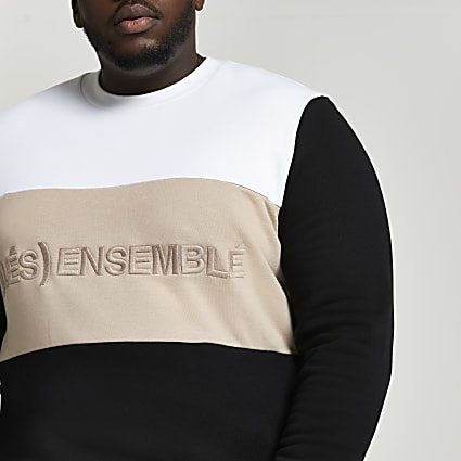 Big & Tall white graphic print sweatshirt