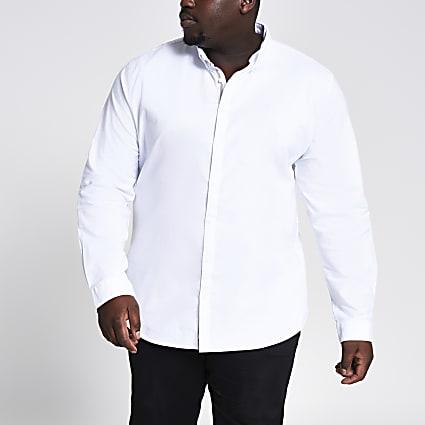 Big & Tall white long sleeve Oxford shirt