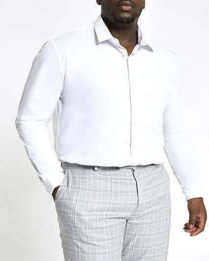 Big & tall white long sleeve shirt