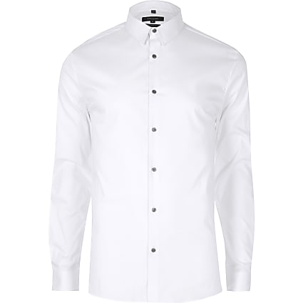 Big & Tall white long sleeve shirt