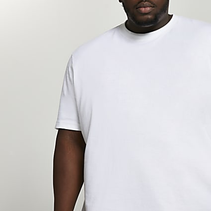 Big & Tall white oversized t-shirt