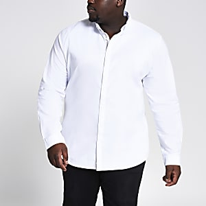 Big and Tall – Weißes Oxford-Hemd