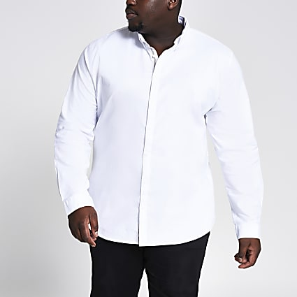 Big & Tall White Oxford Shirt