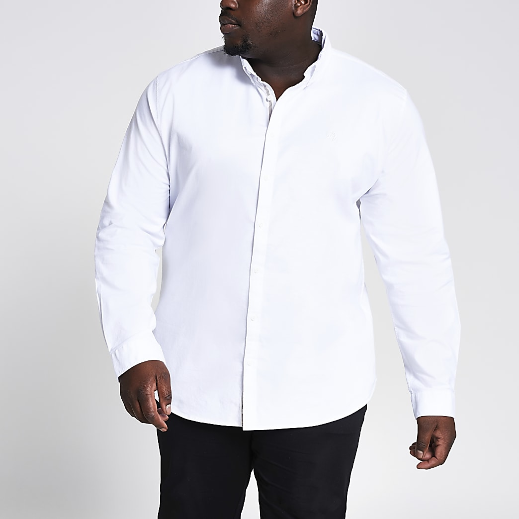 Big & Tall White Oxford Slim Fit Shirt