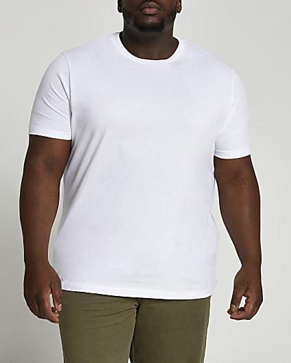 Big & Tall white slim short sleeve t-shirt
