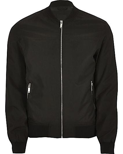 Big and Tall black bomber jacket