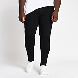 Big and Tall black Ollie spray on fit jeans