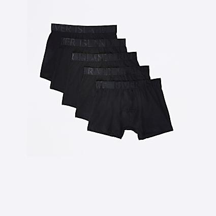 Big & Tall black RI branded trunks 5 pack