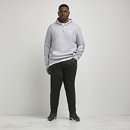 Big and Tall black Sid skinny fit jeans