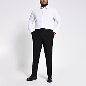 Big and Tall – Schwarze, elegante Slim Fit Hose