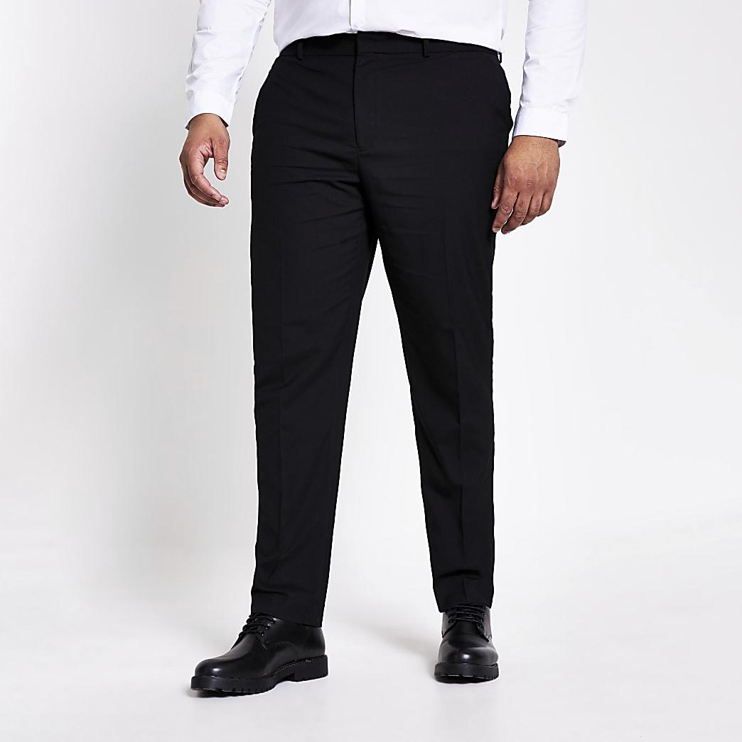 Big and Tall – Pantalon habillé slim noir