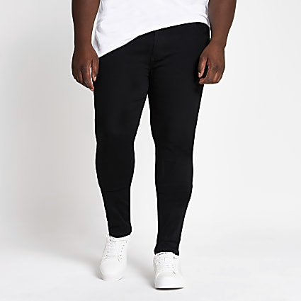 Big & Tall black spray on skinny fit jeans