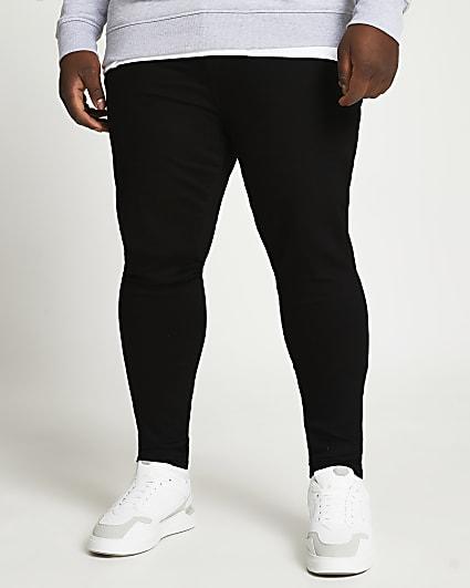 Big & Tall black spray on skinny fit jeans