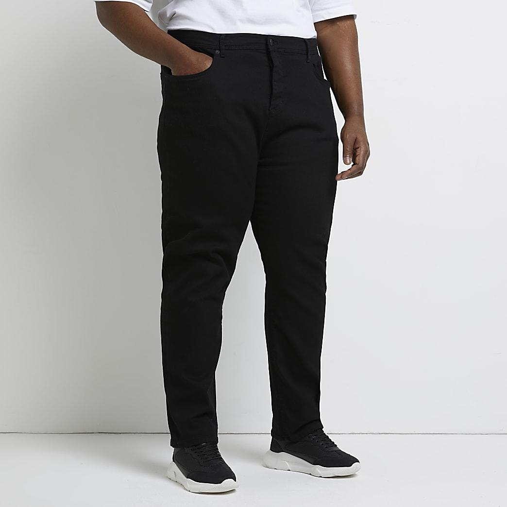 Big & Tall black straight fit jeans