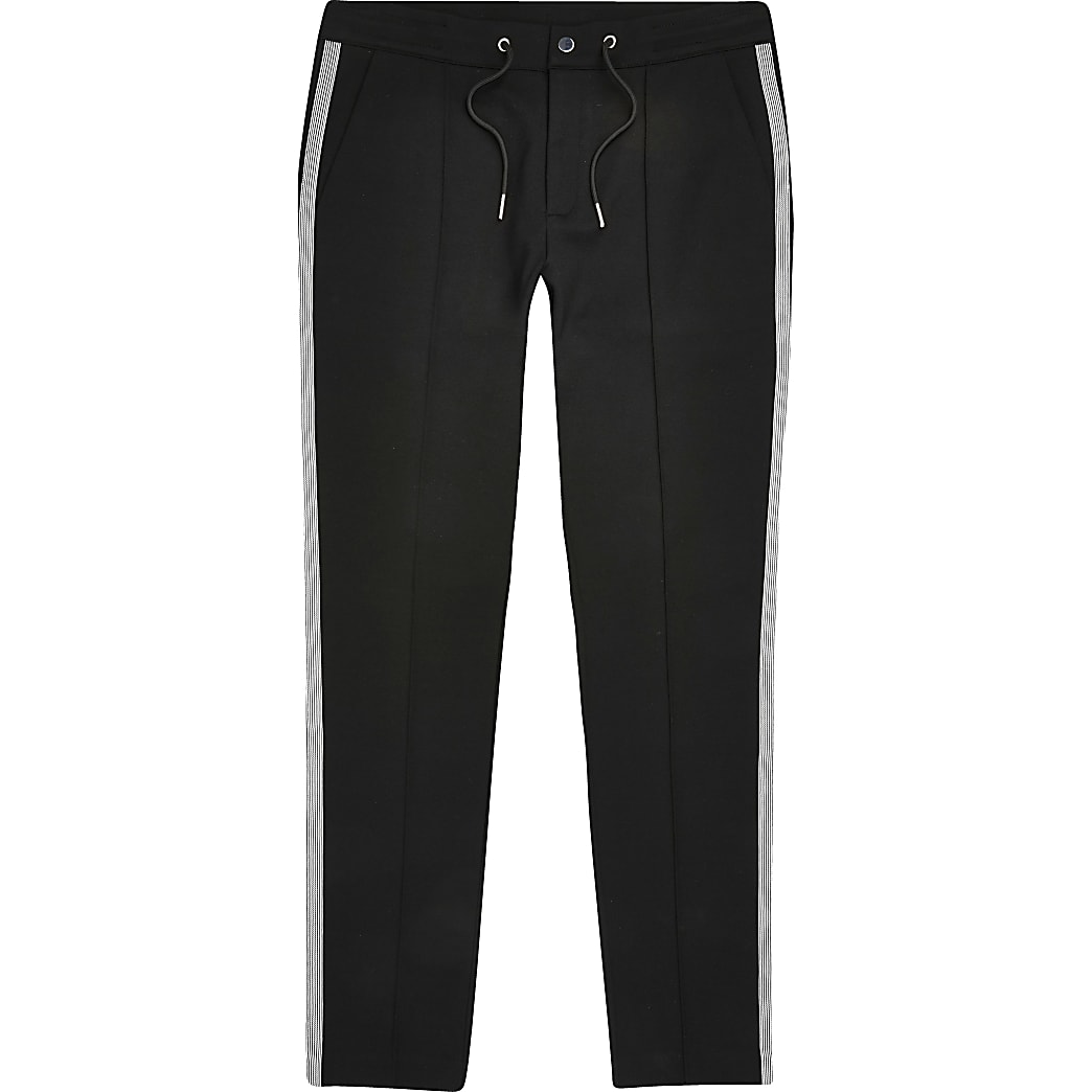 Big and Tall black super skinny fit joggers
