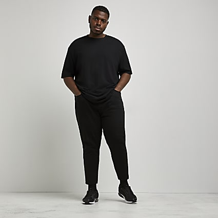 Big & Tall black tapered cropped jean
