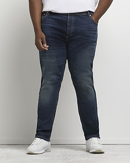 Big & tall blue relaxed skinny jeans