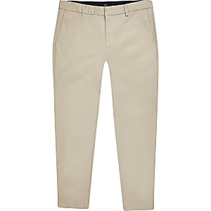 Big and Tall – Pantalon chino skinny bleu
