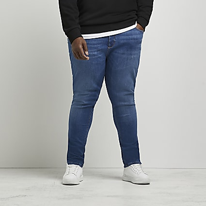Big & Tall blue skinny fit jeans