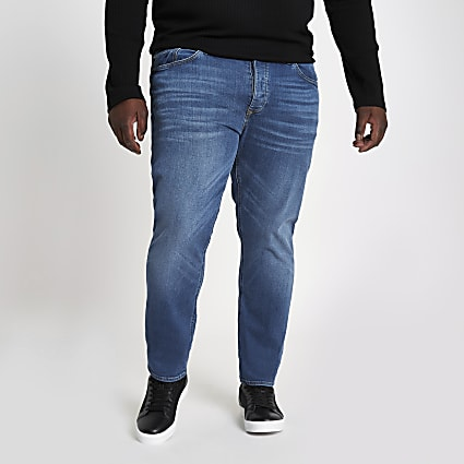 Big & Tall blue slim fit jeans