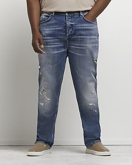 Big & Tall blue straight fit jeans