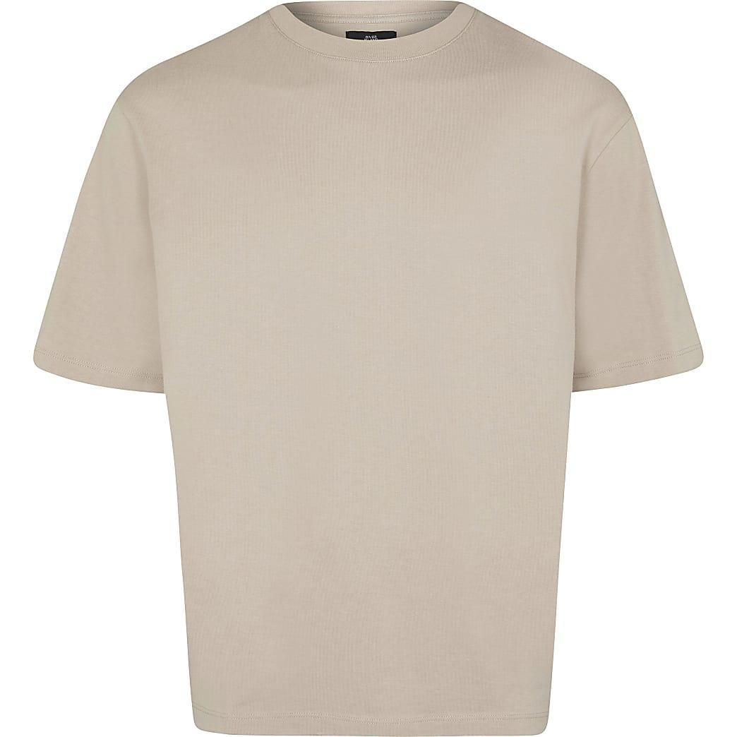 Big & Tall brown oversized t-shirt