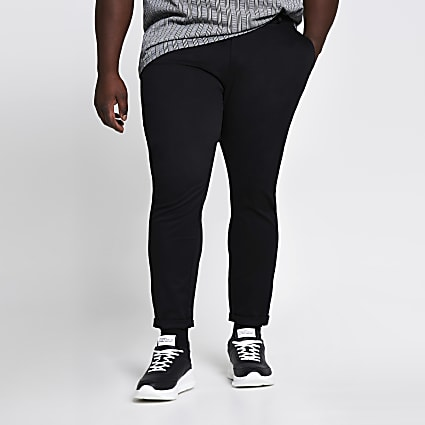 Big and Tall brown skinny fit chino trousers