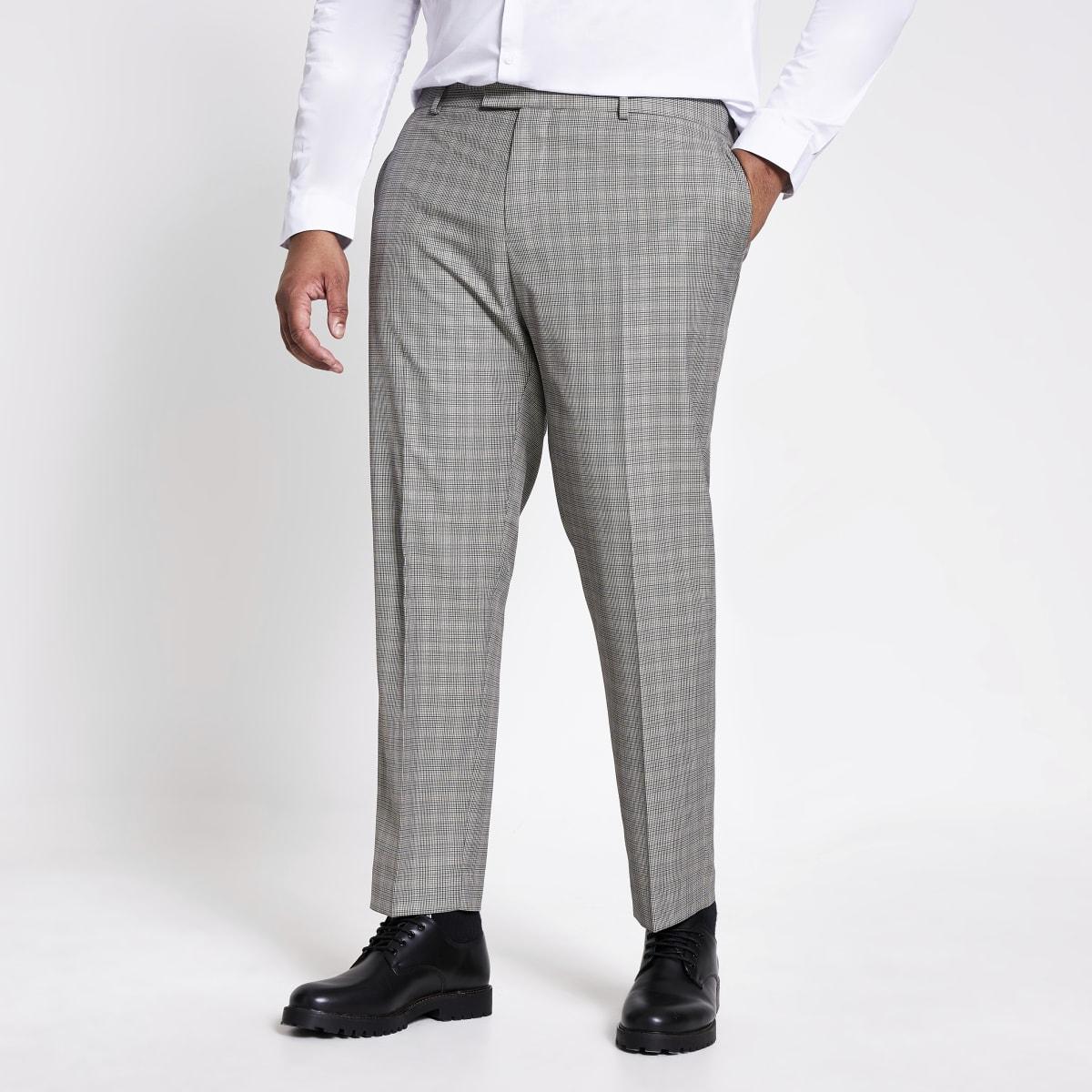 Big and Tall – Pantalon de costume skinny à carreaux